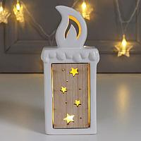 Сувенир керамика, дерево световой 'Свеча' 17,6х6х7,6 см