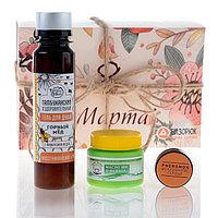 Подарочный набор с органической косметикой 'Зайка моя' духи сухие для женщин с феромонами, гель для душа,