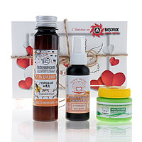 Подарочный набор на 14 февраля 'С любовью' гиалуроновый гидролат, масло ши, гель для душа
