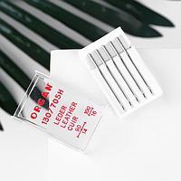 Иглы для бытовых швейных машин, для кожи, 90/100, 5 шт