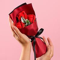 Букет мыльных роз, красные