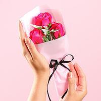 Букет мыльных роз, цвет фуксия