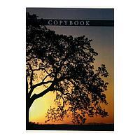 Тетрадь-перевёртыш А4, 80 листов в клетку 'Дерево на закате', обложка мелованный картон, Уф-лак