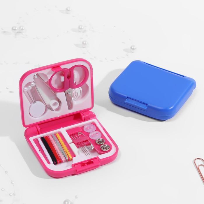 Набор для шитья, в складной пластиковой коробке, цвет МИКС - фото 1