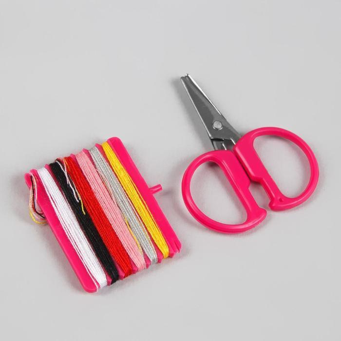 Набор для шитья, в складной пластиковой коробке, цвет МИКС - фото 4