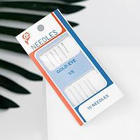 Иглы швейные для бисера, d 0,55 мм, 5,5 см, 5 шт (комплект из 10 шт.)