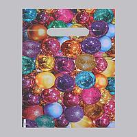 Пакет 'Елочные шары', полиэтиленовый с вырубной ручкой, 20 х 30 см, 30 мкм (комплект из 100 шт.)