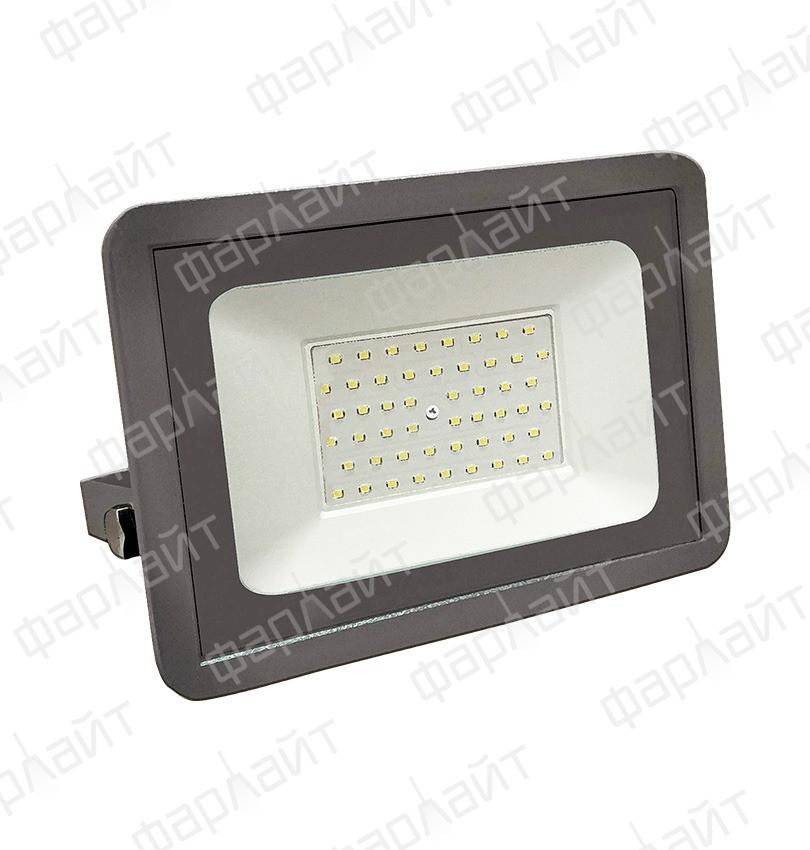 Прожектор светодиодный СДО 50Вт 6500К IP65 зеленый свет серый корпус Фарлайт