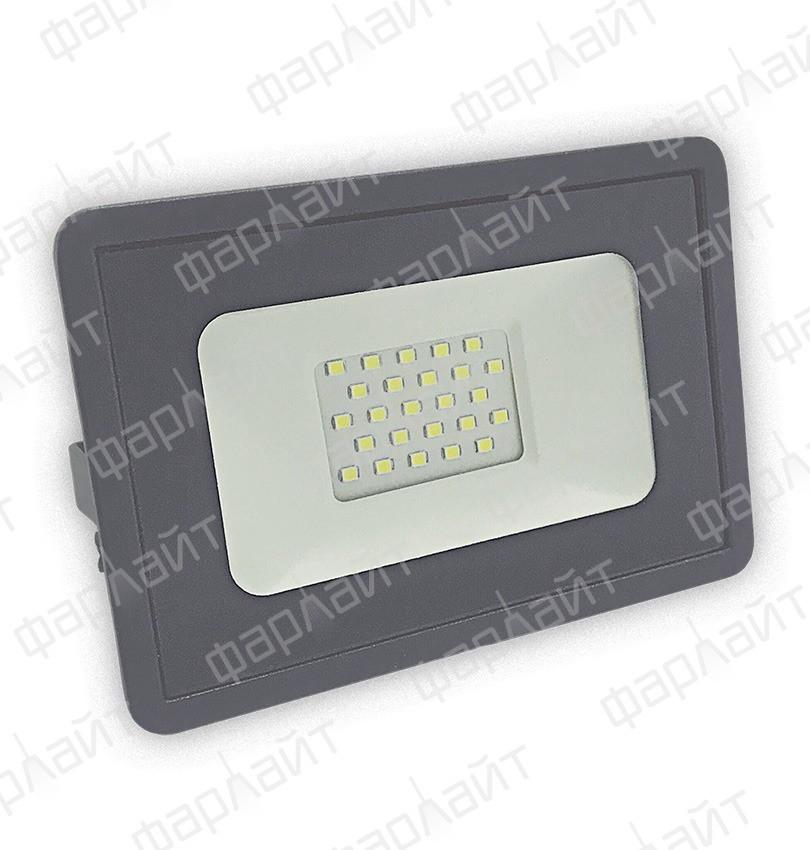 Прожектор светодиодный СДО 30Вт 6500К IP65 зеленый свет серый корпус Фарлайт