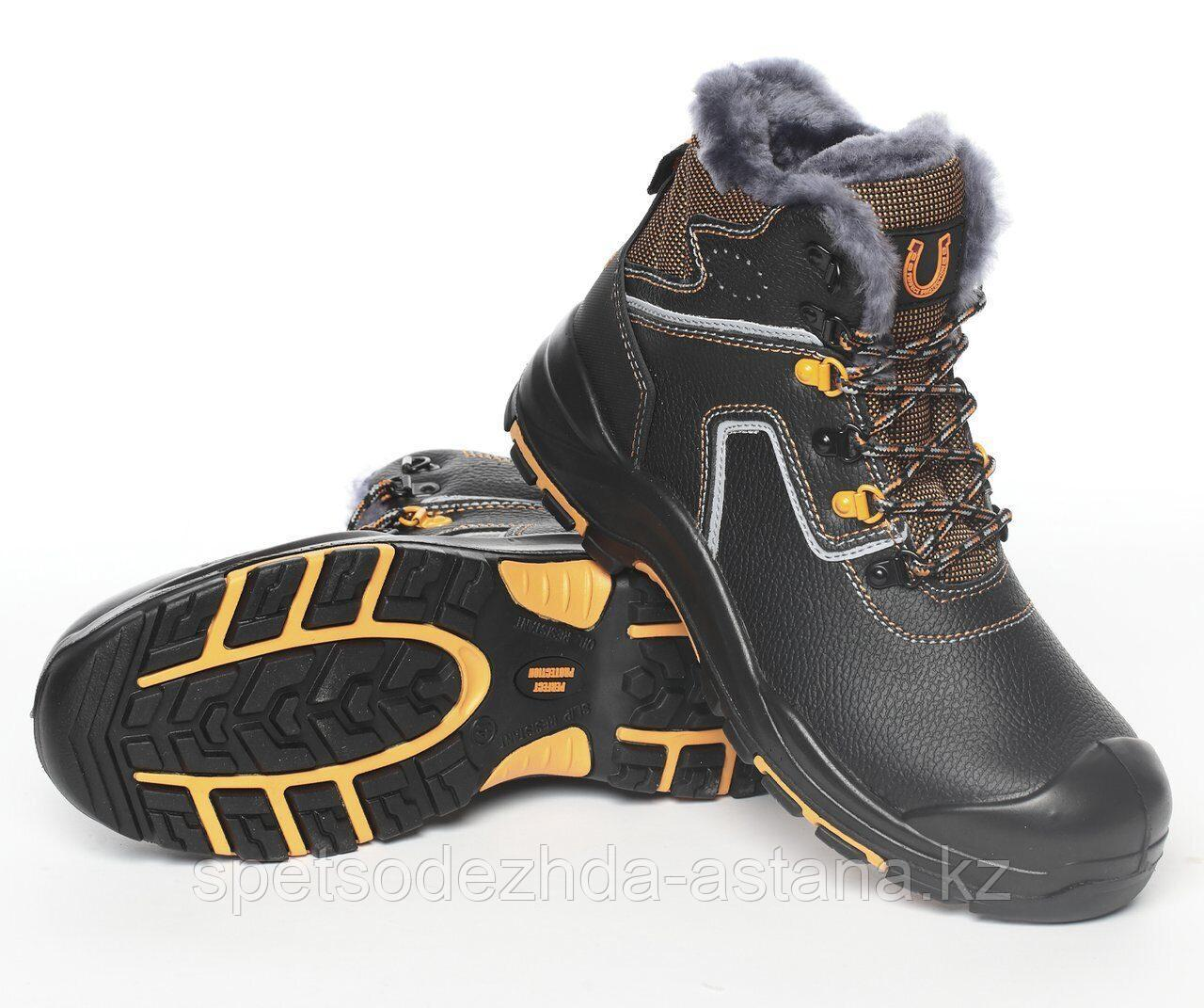 Спецобувь в Астане. Ботинки высокие утепленные натуральным мехом PERFECT PROTECTION