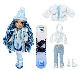 Кукла Rainbow High ЗИМНИЕ КАНИКУЛЫ WINTER Break Skyler Bradshaw Blue