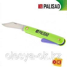Нож садовый, 185 мм, складной, окулировочный, пластиковая рукоятка, пластик. расщепитель, Palisad