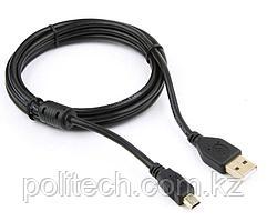 Кабель USB 2.0 Pro Cablexpert CCF-USB2-AM5P-6, AM/miniBM 5P, 1.8м, экран, феррит.кольцо, черный