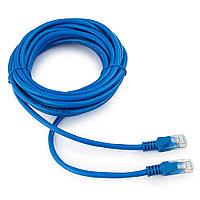 Патч-корд UTP Cablexpert PP12-5M/B кат.5e, 5м, литой, многожильный (синий)