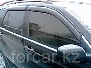Дефлекторы SIM боковых окон для BMW X5 (2004-, E53), (2007-, E70), темные, на 4 двери, фото 2