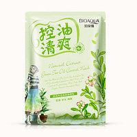 Освежающая тканевая маска с экстрактом зеленого чая BioAqua