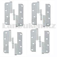 Набор петель накладных ПН1-110 левые стальные с цинковым покрытием Металлист 4 шт 91553 (002)