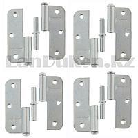 Набор петель накладных ПН1-85 правые стальные с цинковым покрытием Металлист 4 шт 91552 (002)