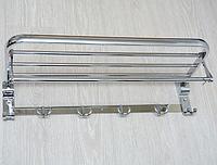 Вешалка настенная с крючками, хром P5203