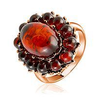 Кольцо Darvin , янтарь коньячный, флора 920042339aa размеры - 19