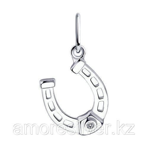"""Кольцо TEOSA серебро с родием, фианит синт., """"halo"""" 10120-512-TZ размеры - 16"""