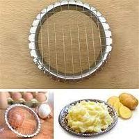 Салаторезка яйцерезка металлическая усиленная для нарезки кубиками яиц, овощей, колбасы, сыра крабовых палочек