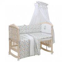 Комплект в кроватку Polini kids Disney Последний богатырь лес серый