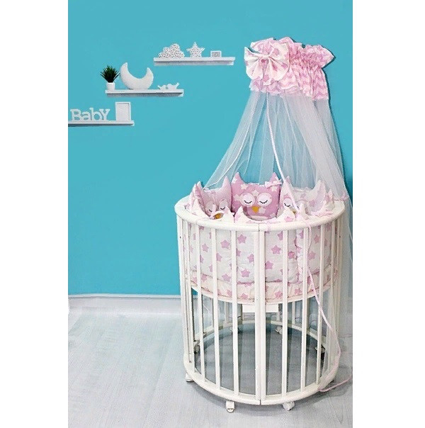 """Комплект для кровати Патрино """"Друзья-2 10522/7» Розовый"""