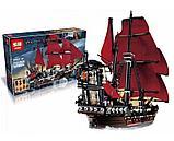 Конструктор  аналог лего Lego Pirates 4195 Пираты Карибского моря 6001 Месть Королевы Анны 1207 дет, фото 6