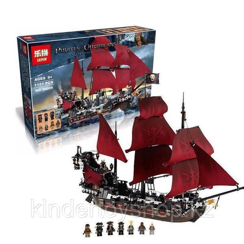 Конструктор  аналог лего Lego Pirates 4195 Пираты Карибского моря 6001 Месть Королевы Анны 1207 дет