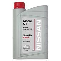 Моторное масло MOTOR OIL SL/CF 5W-40 SYNTHETIC синтетическое NISSAN KE90090032