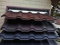 Металлочерепица KRONA 0,47 матовый, 8019 Темно-Коричневый 4375 тг/м2 при заказе свыше 100 м2, фото 1