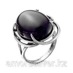 Кольцо Красная Пресня из черненного серебра, агат черный иск., , овал 2337288а