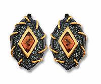 Серьги Балтийское золото , янтарь, необычное 72131039
