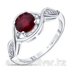 """Кольцо Teosa серебро с родием, рубин фианит, """"halo"""" R-DRGR00744-RB размеры - 16"""