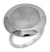 Кольцо Невский серебро с родием, агат кварц розовый, , круг 13430Р размеры - 18 19