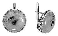 Серьги Teosa , лунный камень, круг 43543
