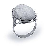 Кольцо серебро с родием, лунный камень, овал 211432 размеры - 19