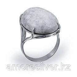 Кольцо  серебро с родием, лунный камень, , овал 211432 размеры - 19