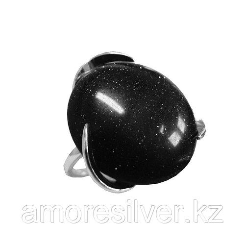 Кольцо Невский серебро с родием, кварц розовый, , овал 13426Р размеры - 19