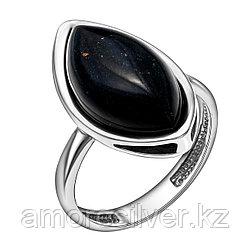 Кольцо Darvin серебро с родием, агат черный, , классика 920LB1107aa размеры - 18,5