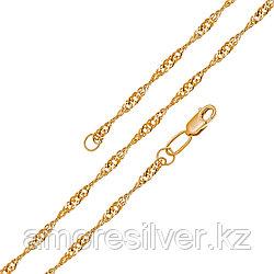 Цепь Бронницкий ювелир серебро с позолотой, без вставок, сингапур V1050022745 размеры - 45