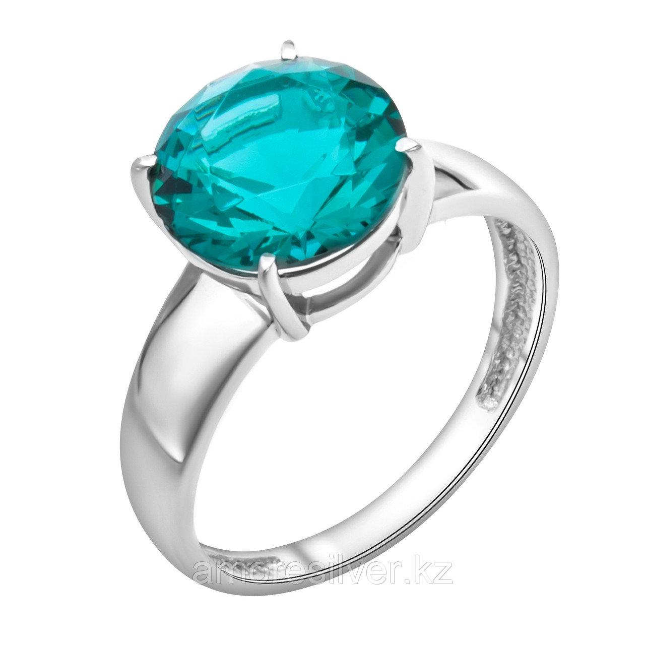 """Кольцо TEOSA серебро с родием, фианит, """"каратник"""" 1000-0386-PRBC размеры - 17,5"""
