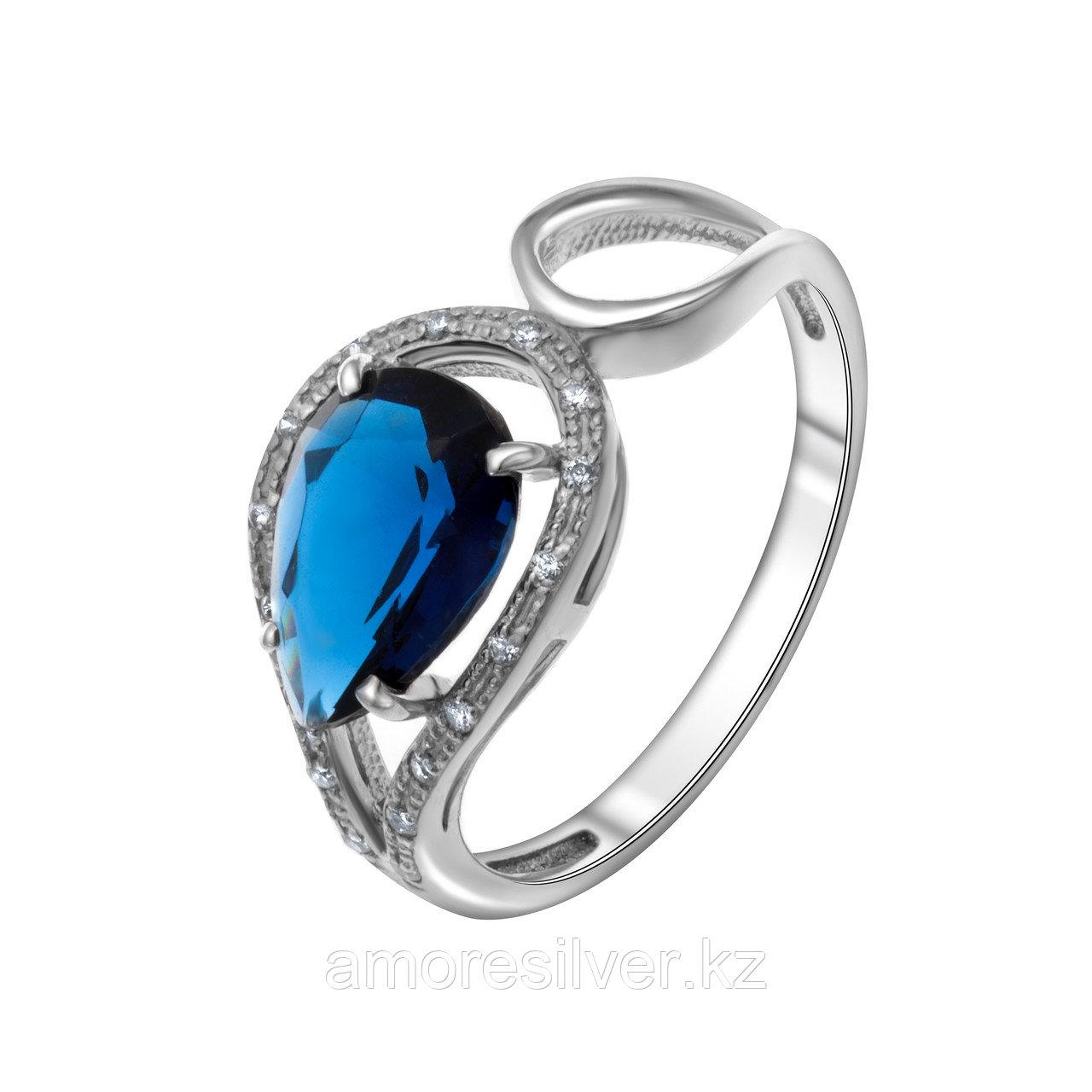 """Кольцо TEOSA серебро с родием, фианит синт., """"halo"""" 100-1093-SP размеры - 18,5"""