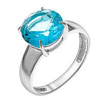 """Кольцо TEOSA серебро с родием, фианит, """"каратник"""" 1000-0386-T размеры - 17,5 18"""
