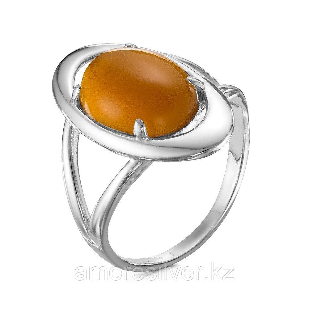 Кольцо Красная пресня серебро с родием, раухтопаз иск., овал 23610148Д11 размеры - 18