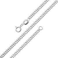Цепь Красцветмет серебро с родием, без вставок, ромб двойной НЦ 22-076-3-040 размеры - 40 45 55 60 65