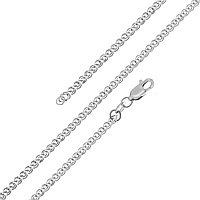 Браслет Красцветмет серебро с родием, без вставок, нонна НБ 22-200-3-080 размеры - 18 19