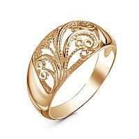 Кольцо Красная пресня серебро с позолотой, без вставок, ажурное 23012005 размеры - 19