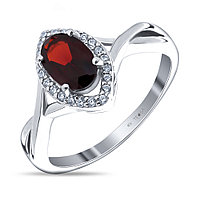"Кольцо TEOSA серебро с родием, гранат фианит, , ""halo"" R-DRGR00378-GR размеры - 17"